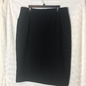 Women's Talbots 100% Wool Black Skirt